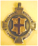 The medal won by H.A. Milton in the London Charity Cup Final of 1902/03.