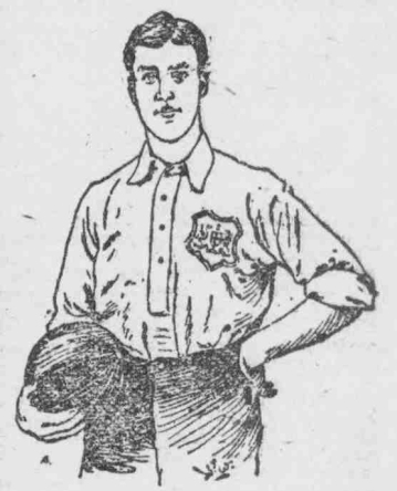 Sketch of Stanley Briggs in London FA colours which appeared in Lloyds Weekly Newspaper 25th October 1896